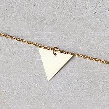 Náhrdelníky - Náhrdelník s trojuholníkom (mosadz + oceľ) - 8763554_