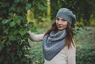 Čiapky - Šatka s baretkou - akcia z 31,- eur - 8764481_