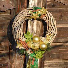 Dekorácie - Vianočný venček s anjelikmi - 8762656_