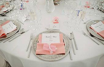 Grafika - Ružové svadobné tlačoviny - 8763796_