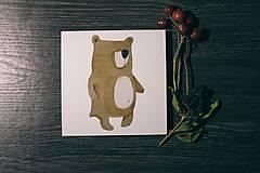 Leporelo 13x13 ,,Grizzly bear,,