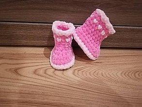 Topánočky - Háčkované čižmičky pre novorodeniatko - 8764041_