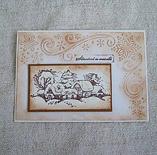 Papiernictvo - Vianočná pohľadnica 67 - 8762811_
