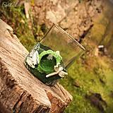 Svietidlá a sviečky - Vážky do kúpelne - svietnik na čajovú sviečku - 8764405_