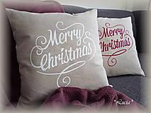 - Vianočná obliečka Merry Christmas  - 8765481_