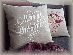 Úžitkový textil - Vianočná obliečka Merry Christmas - 8765481_