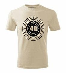 Oblečenie - Na narodeniny - terč - pánske tričko - 8762996_