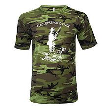 Oblečenie - Najlepší poľovník - pánske tričko - 8763180_