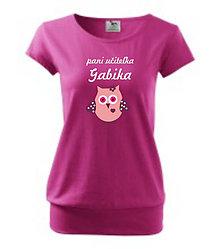 Tričká - Pani učiteľka - dámske tričko s vlastným menom - 8764480_