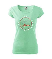 Tričká - Perfektná pani učiteľka - dámske tričko - 8764498_