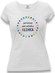 Tričká - Perfektná pani učiteľka II. - dámske tričko - 8764527_