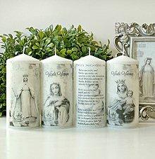 Svietidlá a sviečky - Tichá noc duo sviečok 15cm - 8765052_