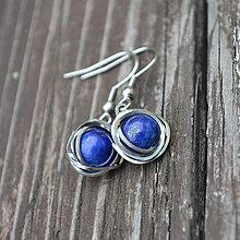 Náušnice - náušnice z lapisu lazuli - 8761626_