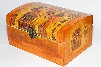 Krabičky - Krásna šperkovnica - motív Egypt - 8760925_