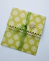 Papiernictvo - vianočná obálka na peniaze - 8761829_