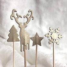 Dekorácie - Vianočné zapichy - 8762533_