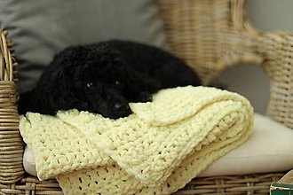 Textil - Mäkučká deka pre bábätko žltá - 8761570_