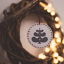 Dekorácie - Vianoce v Škandinávii (Stromček) - 8764595_