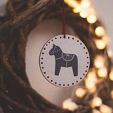 Dekorácie - Vianoce v Škandinávii (Koník) - 8764600_
