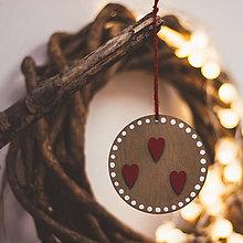 Dekorácie - Zaľúbené Vianoce - 8764864_
