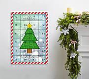 Papiernictvo - Adventný kalendár vianočný stromček - 8763507_