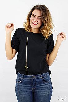 Tričká - Dámske tričko čierne IO11 - 8761354_