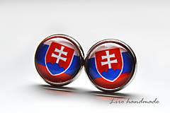 Náušnice - Slovensko / strieborné lôžko  - 12mm - 8768038_