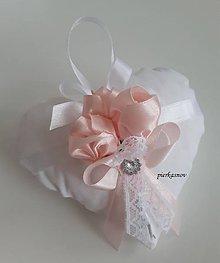 Prstene - svadobné ozdobné levanduľové srdiečko - 8767632_