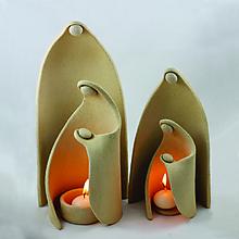 Socha - Prišlo k nám Svetlo Sveta - keramický svietnik - Maxi Betlehem - 8766138_