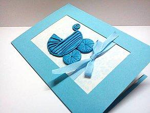 Papiernictvo - Pohľadnica ... Vítame chlapčeka - 8769420_
