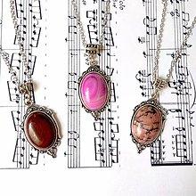 Náhrdelníky - Antique Gemstone Necklaces / Náhrdelníky s minerálmi vo vintage štýle - 8768073_