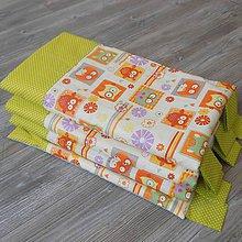 Úžitkový textil - Zástena bez vreciek *Sova Orange* - 8767898_
