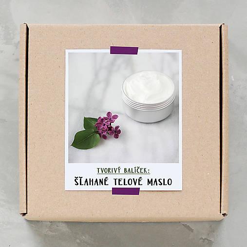 Šľahané telové maslo - tvorivý balíček s návodom
