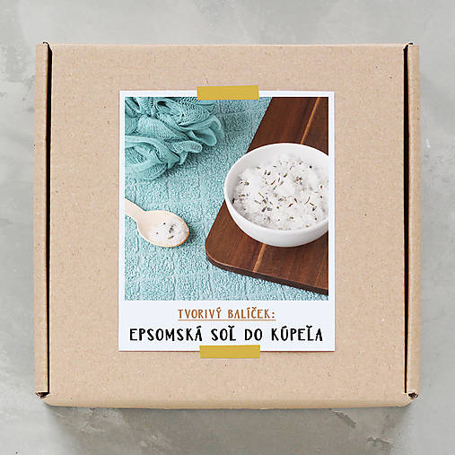 Epsomská soľ do kúpeľa - tvorivý balíček s návodom