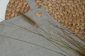Iné oblečenie - Ľanová zásterka Natur - 8769575_