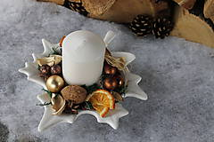 Dekorácie - vianočné aranžmá_ prírodné - 8770248_