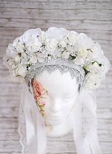Ozdoby do vlasov - Svadobná parta Ľadová kráľovná - 8768915_