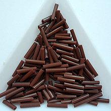 Korálky - Rokajl sekaný 9mm-20g (hnedá) - 8768012_