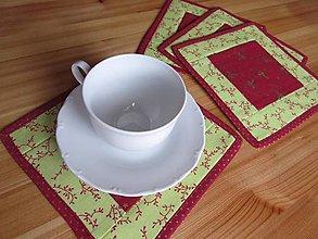 Úžitkový textil - Podšálky Vianočné 4ks - 8766023_