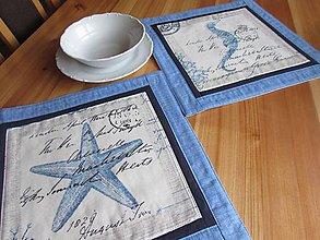Úžitkový textil - Prestieranie na stôl STARFISH + SHRIMP 2ks - 8767281_