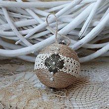 Dekorácie - vianočná guľa *65 - 8770656_