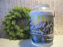 Svietidlá a sviečky - Vianočný svietnik - 8769790_