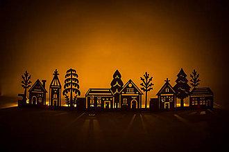 Dekorácie - Vianočná dedinka - 8768645_
