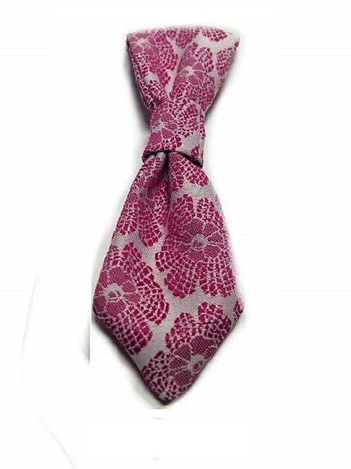 Kravata pre psa kvetovaná