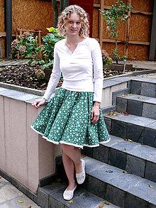Sukne - Vánoční kolová sukně - SKLADEM - 8768775_