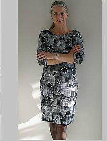 Šaty - Šaty s geometrickým vzorem...originál... - 8767762_