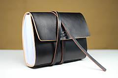 Papiernictvo - Kožený zápisník BLACK A5 - 8771331_
