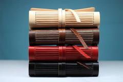 Papiernictvo - Kožený zápisník BLACK A5 - 8771338_