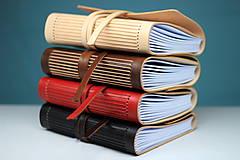 Papiernictvo - Kožený zápisník BLACK A5 - 8771340_