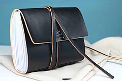 Papiernictvo - Kožený zápisník BLACK A5 - 8771344_